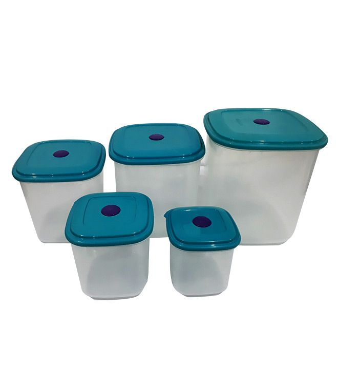 Conjunto 5 Potes Quadrados
