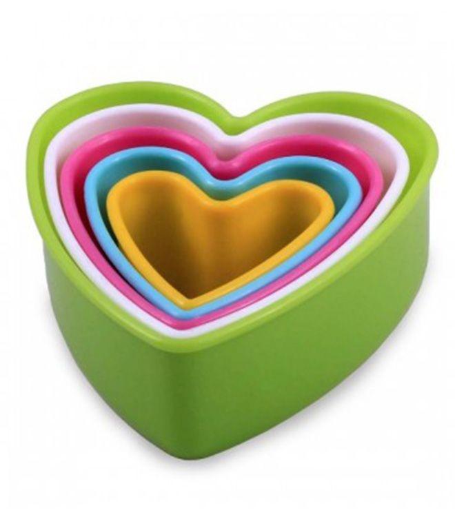 Jogo Cortador Plástico Coração