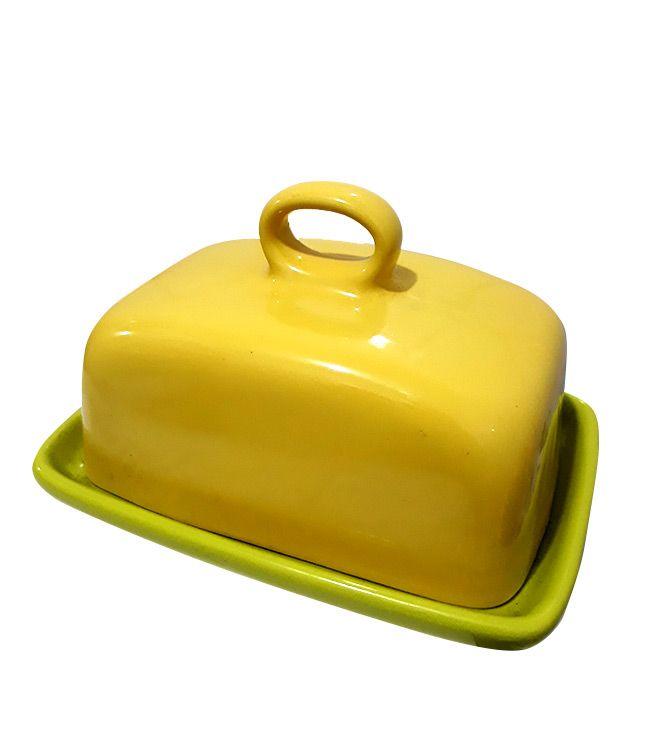 Manteigueira Amarela com Tampa