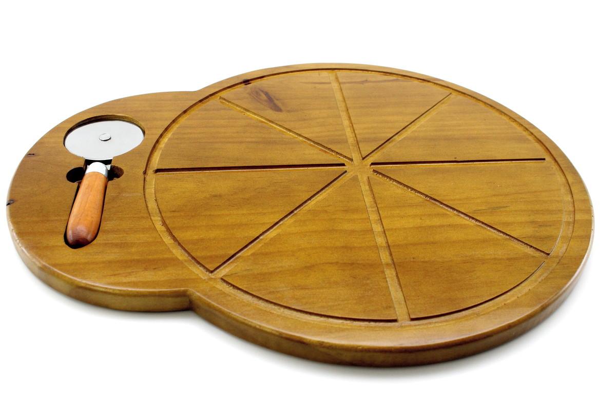 Tábua de Pizza com Cortador
