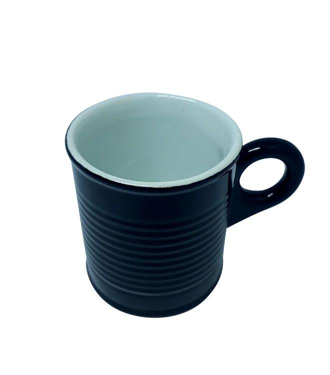 Xícara Cafezinho Lata Preta