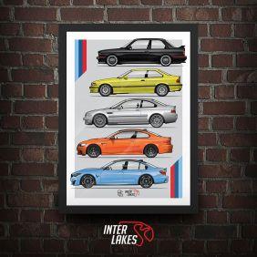 QUADRO BMW M3 GENERATIONS