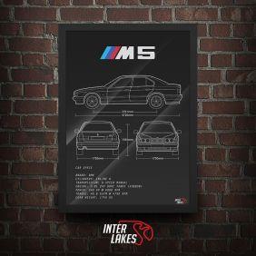 QUADRO/POSTER BMW M5 E34