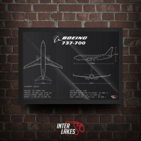 QUADRO/POSTER BOEING 737-700