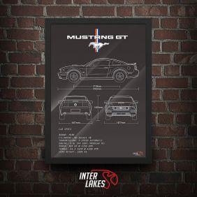 QUADRO/POSTER FORD MUSTANG GT V8