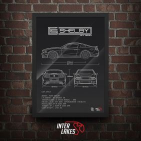 QUADRO/POSTER FORD MUSTANG SHELBY GT500 2014