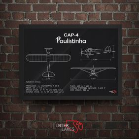 QUADRO/POSTER PAULISTINHA CAP- 4