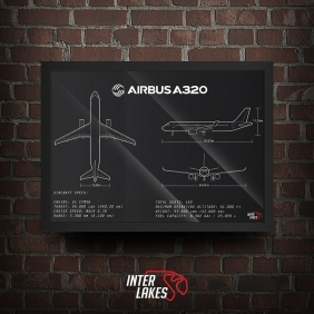 QUADRO/POSTER AIRBUS A320