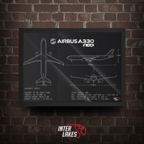 QUADRO/POSTER AIRBUS A330 NEO