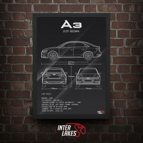 QUADRO/POSTER AUDI A3 SEDAN 2.0 8V PERFORMANCE 2020