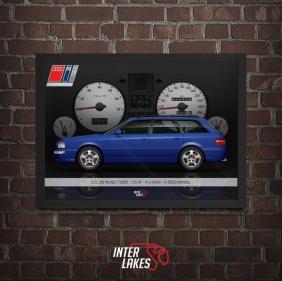 QUADRO/POSTER AUDI RS2 AVANT - INTERIOR