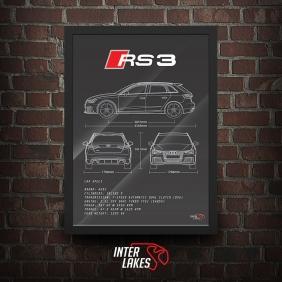 QUADRO/POSTER AUDI RS3 SPORTBACK 2016