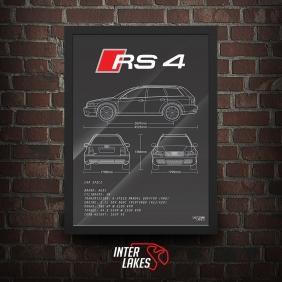 QUADRO/POSTER AUDI RS4 B5