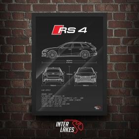 QUADRO/POSTER AUDI RS4 B9