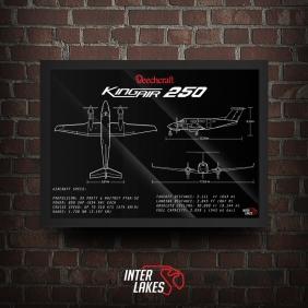 QUADRO/POSTER BEECHCRAFT KING AIR B250