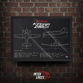 QUADRO/POSTER BEECHCRAFT KING AIR C90GTI