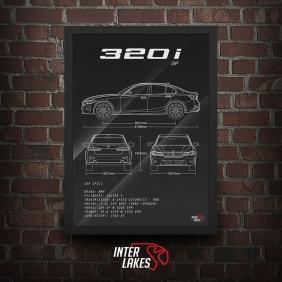QUADRO/POSTER BMW 320I 2.0 GP G20