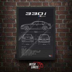 QUADRO/POSTER BMW 330I M SPORT G20