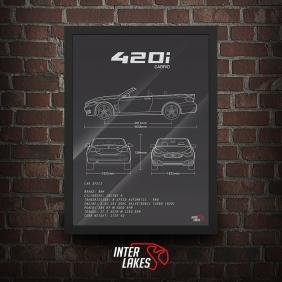 QUADRO/POSTER BMW 420I CABRIOLET