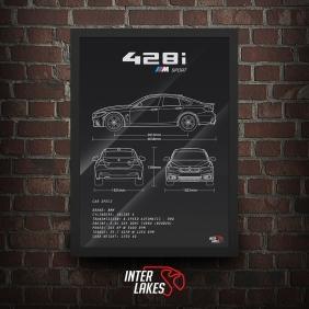 QUADRO/POSTER BMW 428I M SPORT GRAN COUPE 2016