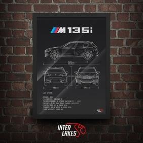 QUADRO/POSTER BMW M135I 2016