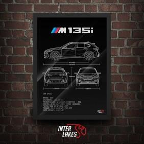 QUADRO/POSTER BMW M135I XDRIVE 2020