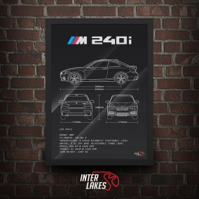 QUADRO/POSTER BMW M240I