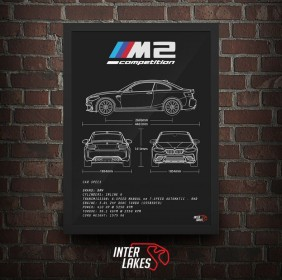 QUADRO/POSTER BMW M2 COMPETITION