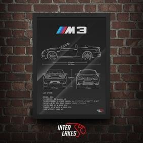 QUADRO/POSTER BMW M3 CABRIOLET E93