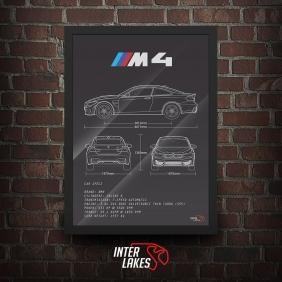 QUADRO/POSTER BMW M4 COUPE