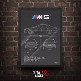 QUADRO/POSTER BMW M5 E39 SEDAN