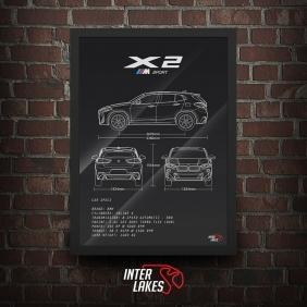 QUADRO/POSTER BMW X2 M SPORT F39