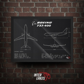 QUADRO/POSTER BOEING 737-400