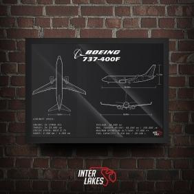 QUADRO/POSTER BOEING 737-400F