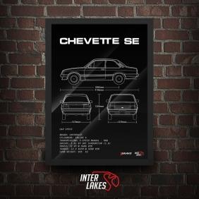 QUADRO/POSTER CHEVROLET CHEVETTE SE 1987