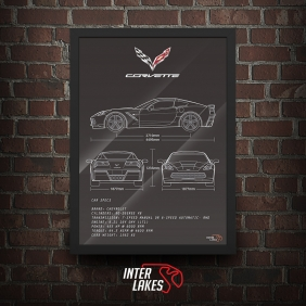 QUADRO/POSTER CHEVROLET CORVETTE STINGRAY 2014
