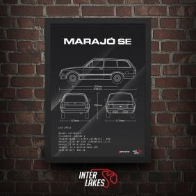 QUADRO/POSTER CHEVROLET MARAJÓ SE AUTOMÁTICO 1987