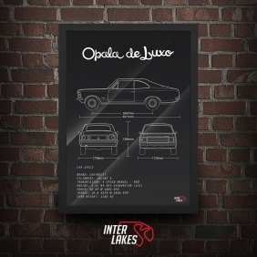QUADRO/POSTER CHEVROLET OPALA DE LUXO COUPÊ 1978