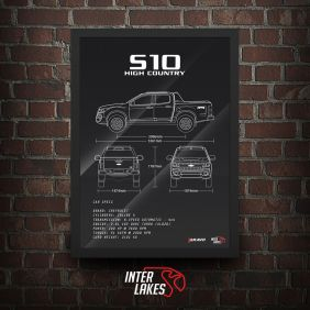 QUADRO/POSTER CHEVROLET S10 HIGH COUNTRY 2017