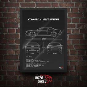 QUADRO/POSTER DODGE CHALLENGER SE V6