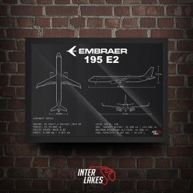 QUADRO/POSTER EMBRAER 195 E2