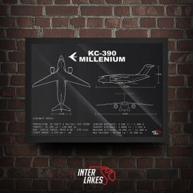 QUADRO/POSTER EMBRAER KC 390 MILLENIUM