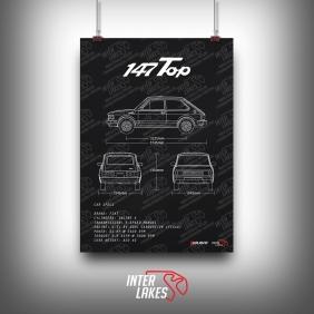QUADRO/POSTER FIAT 147 TOP 1982
