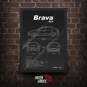 QUADRO/POSTER FIAT BRAVA ELX 1999