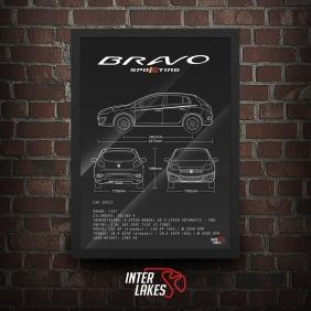 QUADRO/POSTER FIAT BRAVO SPORTING 2016