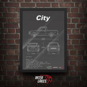 QUADRO/POSTER FIAT CITY 1984