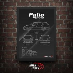 QUADRO/POSTER FIAT PALIO WEEKEND STILE 1997