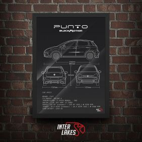 QUADRO/POSTER FIAT PUNTO BLACKMOTION 2013