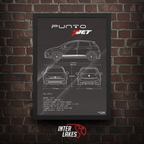 QUADRO/POSTER FIAT PUNTO T-JET 2013