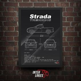 QUADRO/POSTER FIAT STRADA 1.4 TREKKING CS 2010